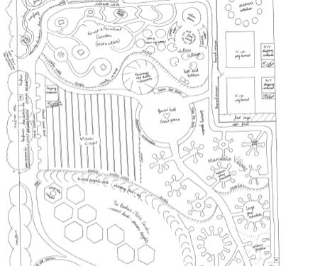 Plan of the Hillside garden